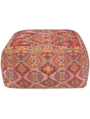 Cuscino da pavimento etnico Tarso, Rivestimento: cotone, Rosso, rosa, arancione, beige, Larg. 60 x Alt. 30 cm