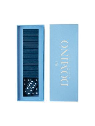 Set Domino Classic 30 pz, Carta, legno, Blu, Larg. 24 x Alt. 5 cm