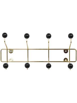 Appendiabiti in metallo Saturnus, Struttura: metallo verniciato, Struttura: dorato Gancio: nero, Larg. 34 x Alt. 15 cm