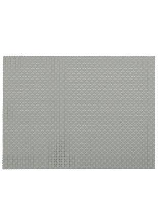 Podkładka Confetti, 2 szt., Tworzywo sztuczne (PVC), Jasnoszary, D 40 x S 30 cm