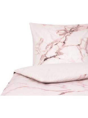 Perkal-Bettwäsche Malin mit Marmor Muster, Webart: Perkal Fadendichte 200 TC, Marmormuster, Rosa, 135 x 200 cm
