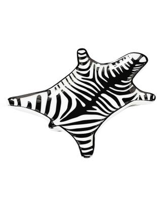 Ciotola in porcellana Zebra, Porcellana, Nero, bianco, Larg. 15 x Prof. 11 cm
