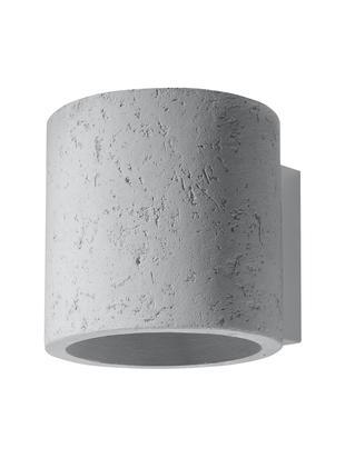 Kinkiet Roda, Beton, Złamana biel, Ø 10 x W 12 cm