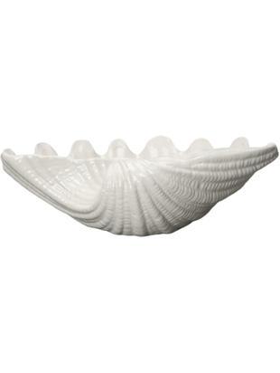 Schale Shell, Keramik, Weiß, Ø 34 x H 9 cm