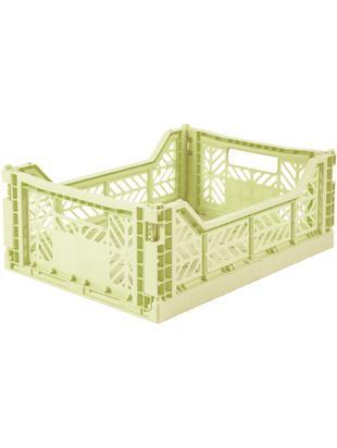 Kosz do przechowywania Ayka, Tworzywo sztuczne z recyklingu, Zielony melonowy, S 40 x W 14 cm