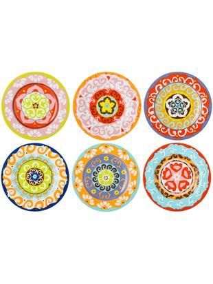 Set piatti da colazione Nador, 6 pz., Gres, Multicolore, Ø 21 cm