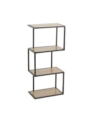 Estantería Stacky, Estructura: metal, Estantes: madera, Beige, negro, An 67 x Al 29 cm