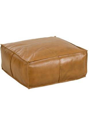 Cuscino da pavimento grande in pelle Arabica, Rivestimento: pelle, Cognac, Larg. 70 x Alt. 30 cm