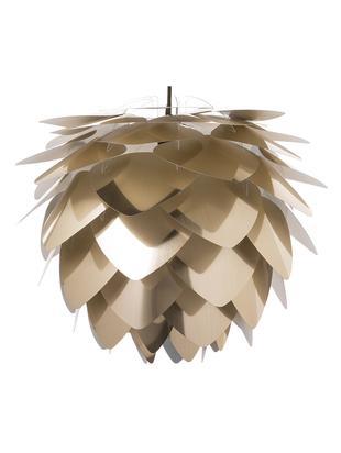 Lampa wisząca do montażu Silvia, Klosz: odcienie mosiądzu Wahadło przewodowe: czarny, Ø 50 x W 41 cm