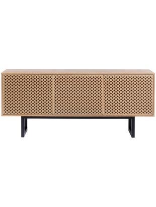 Design-Sideboard Camden mit Eichenholzfurnier, Korpus: Mitteldichte Holzfaserpla, Eichenholz, 175 x 75 cm