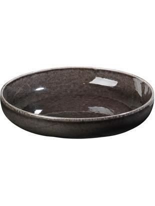 Ciotola fatta a mano Nordic Coal 4 pz, Terracotta, Marrone scuro, Ø 22 x Alt. 5 cm