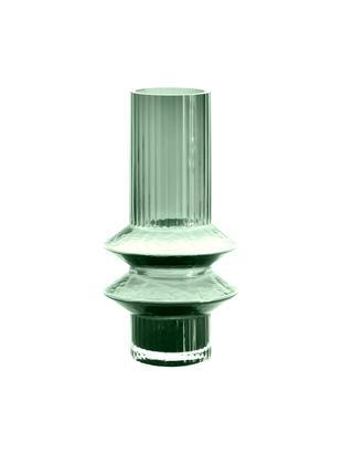 Glazen vaas Rilla, Glas, Groen, Ø 10 x H 21 cm
