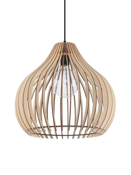 Lampa wisząca Pantilla, Brązowy, czarny, Ø 43 x W 39 cm