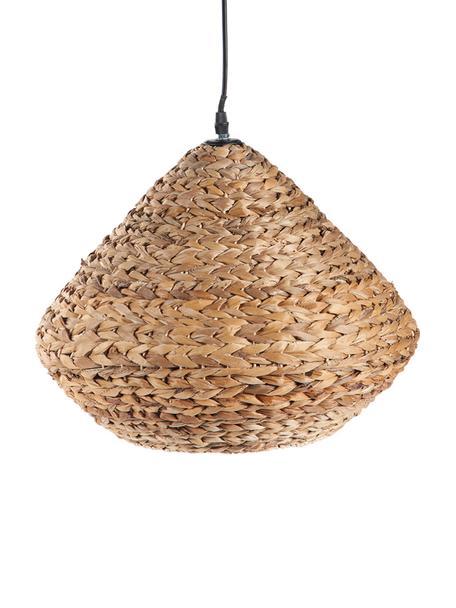 Lámpara de techo Ronny, Anclaje: metal, Pantalla: cuerda trenzada, Negro, beige, An 35 x Al 35 cm