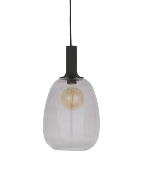 Kleine Pendelleuchte Alton aus Glas, Lampenschirm: Glas, Schwarz, Grau, transparent, Ø 23 x H 43 cm