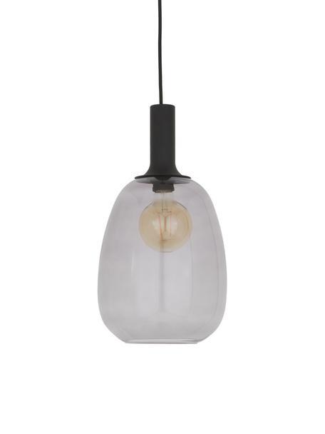 Lampada a sospensione in vetro Alton, Paralume: vetro, Nero, grigio trasparente, Ø 23 x Alt. 43 cm