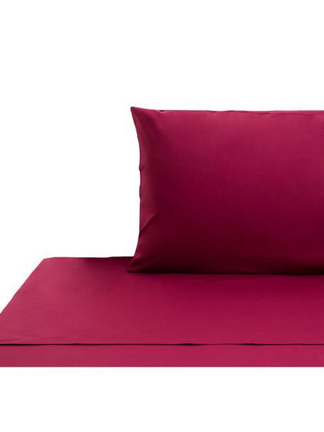 Ropa de cama de renforcé Lenare, Color vino, Cama 90 cm (150 x 290 cm)