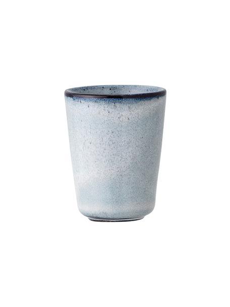 Handgemachte Eierbecher Sandrine aus Steingut, 2 Stück, Steingut, Blautöne, Ø 5 x H 7 cm