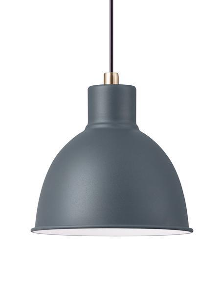 Lampada a sospensione Pop, Paralume: metallo rivestito, Baldacchino: materiale sintetico, Antracite, Ø 21 x Alt. 24 cm