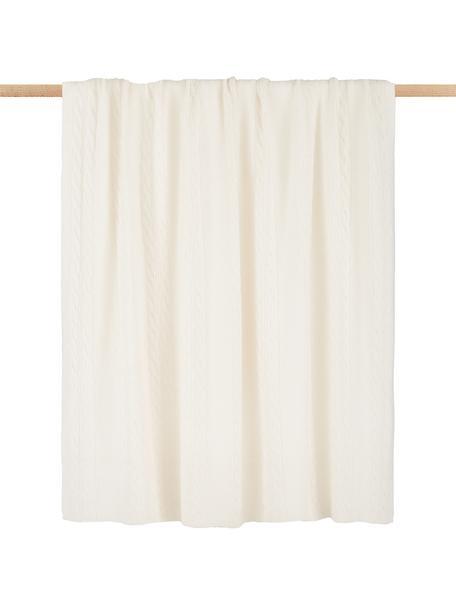 Manta de cachemira pura Leonie, 100%cachemira La cachemira es un tejido muy suave, cómodo y cálido, Blanco crema, An 130 x L 170 cm