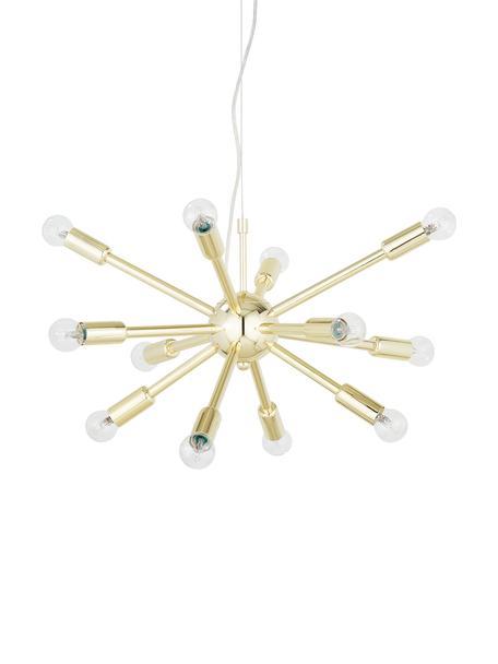 Pendelleuchte Spike in Gold, Baldachin: Metall, vermessingt, Lampenschirm: Metall, vermessingt, Goldfarben, Ø 50 cm