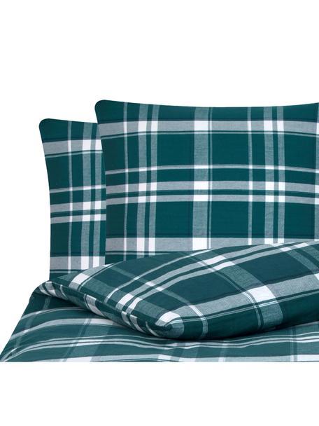Flanell-Bettwäsche Rolf, kariert, Webart: Flanell Flanell ist ein k, Grün, 200 x 200 cm + 2 Kissen 80 x 80 cm