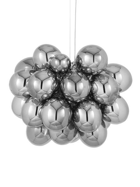 Glaskugel Pendelleuchte Gross Grande, Baldachin: Nickel, verchromt, Chrom, Ø 62 cm x H 50 cm