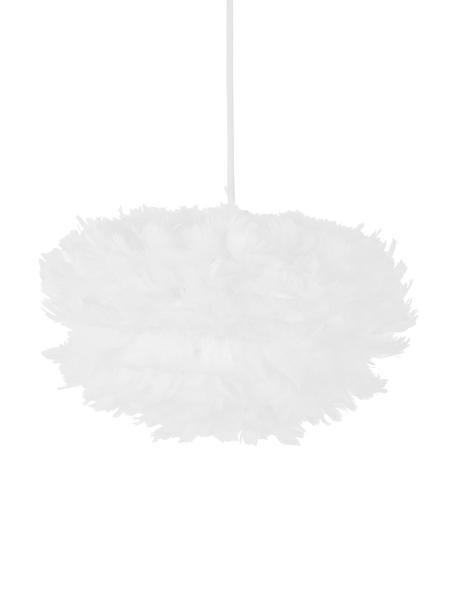 Lampa wisząca z piór EOS, Biały, Ø 35 x W 20 cm