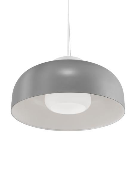 Lampada a sospensione retro Miry, Paralume: metallo rivestito, Baldacchino: metallo, Grigio, Ø 50 x Alt. 28 cm