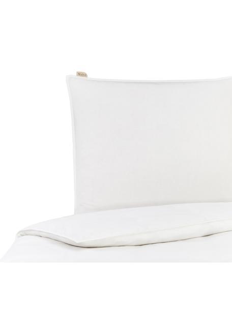 Leinen-Wendebettwäsche Natural mit Baumwollperkal-Rückseite, Vorderseite: 65% Leinen, 35% Baumwolle, Rückseite: Baumwolle, Webart: Perkal Fadendichte 200 TC, Weiß, 155 x 220 cm + 1 Kissen 80 x 80 cm