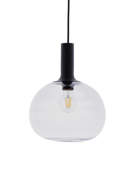 Pendelleuchte Alton aus Glas, Lampenschirm: Glas, Schwarz, Grau, transparent, Ø 25 x H 33 cm
