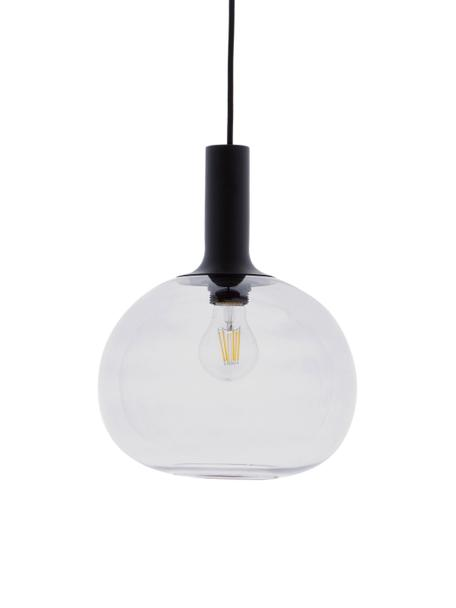 Lampada a sospensione in vetro Alton, Paralume: vetro, Nero, grigio trasparente, Ø 25 x Alt. 33 cm