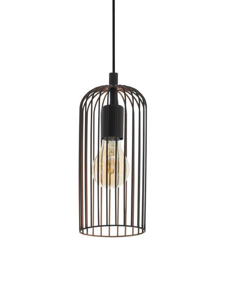 Lámpara de techo pequeña Roccamena, Cable: plástico, Negro, Ø 13 x Al 30 cm