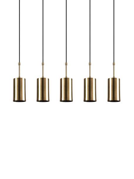 Pendelleuchte Kem in Messing, Baldachin: Metall, beschichtet, Messingfarben, Schwarz, 78 x 120 cm