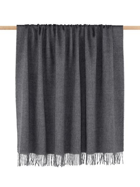 Babyalpaka-Decke Luxury in Grau, Grau, 130 x 200 cm