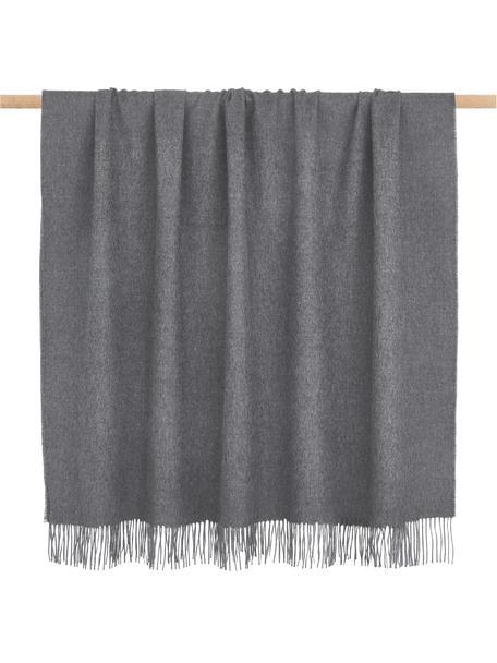 Leichte Babyalpaka-Decke Luxury in Grau, Grau, 130 x 200 cm
