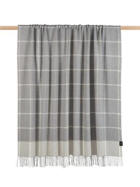 Manta de lana de cachemir Farison, 90% lana, 10% cachemir, Gris claro, gris, An 140 x L 200 cm