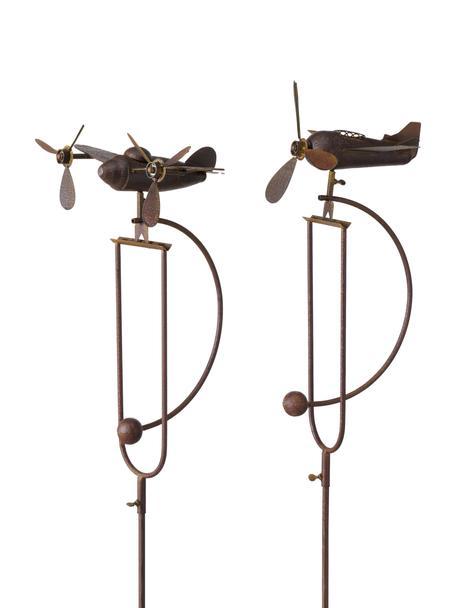 Komplet wsporników rośliny Ju, 2 elem., Metal, Brązowy, S 39 x W 132 cm