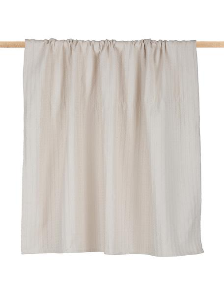 Plaid Pietro, 100% Baumwolle, Ecru, 125 x 150 cm
