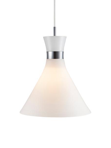 Pendelleuchte Trumpet aus Glas, Lampenschirm: Glas, Weiß, Chrom, Ø 26 x H 35 cm