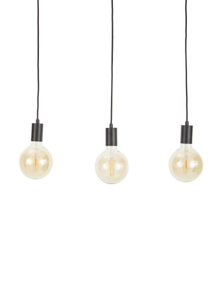 Lámpara de techo Dina, Cable: cubierto en tela, Negro, An 60 x F 6 cm