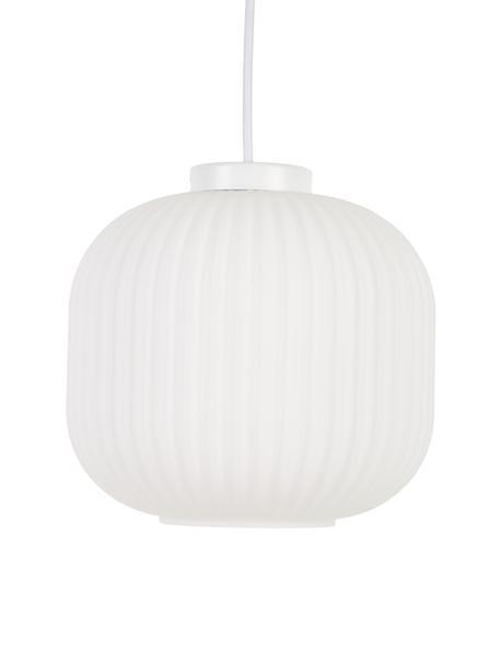 Lámpara de techo pequeña Geneva, Pantalla: vidrio, Fijación: plástico, Cable: plástico, Blanco, Ø 21 x Al 19 cm