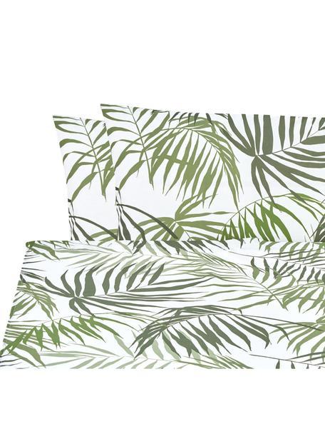 Set lenzuola in cotone Dalor, Cotone, Verde, bianco, 240 x 270 cm