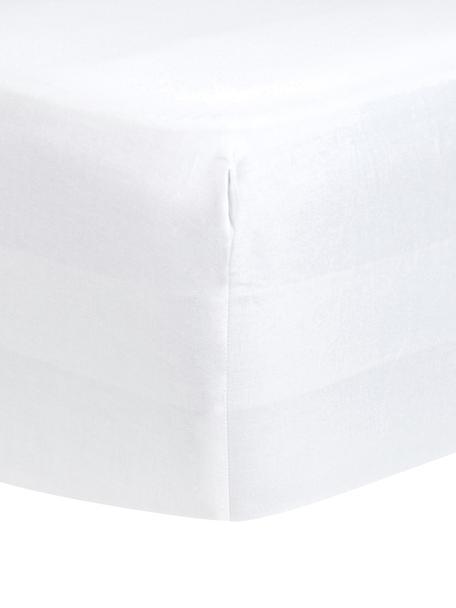 Sábana bajera para boxspring de satén Comfort, Blanco, Cama 90 cm (90 x 200 cm)