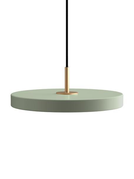Hanglamp Asteria, Lampenkap: gecoat aluminium, Baldakijn: polypropyleen, Olijfgroen, Ø 31 x H 11 cm