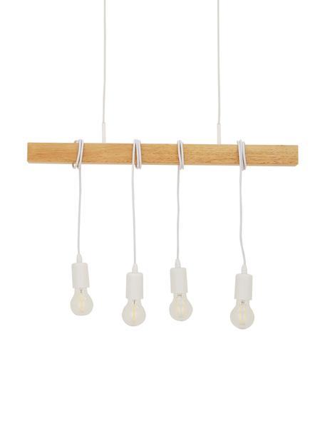 Pendelleuchte Townshend, Weiß, Holz, 70 x 110 cm