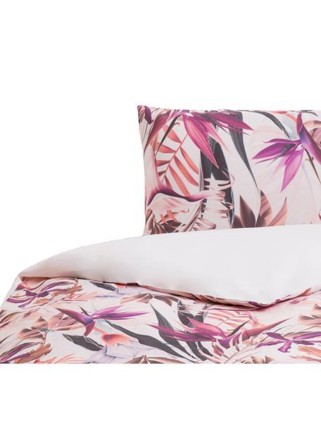 Parure copripiumino in cotone Flew, Cotone, Fronte: multicolore Retro: bianco, 155 x 200 cm