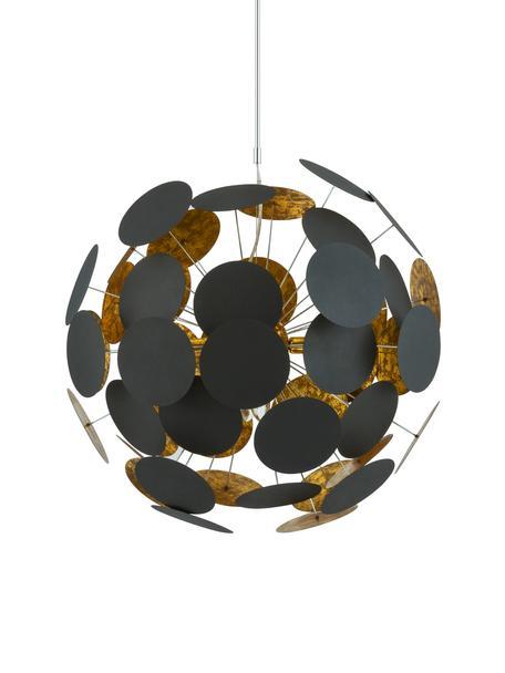 Grote hanglamp Planet, Zwart, koperkleurig, Ø 66 x H 66 cm