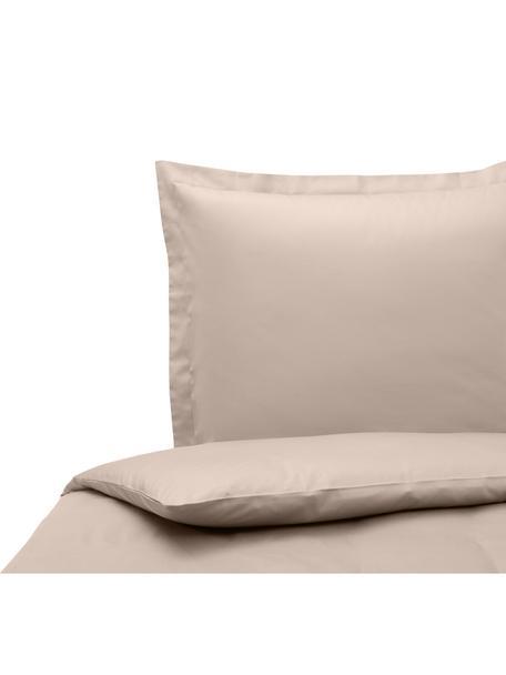Funda nórdica de satén Premium, Gris pardo, Cama 90 cm (150 x 200 cm)