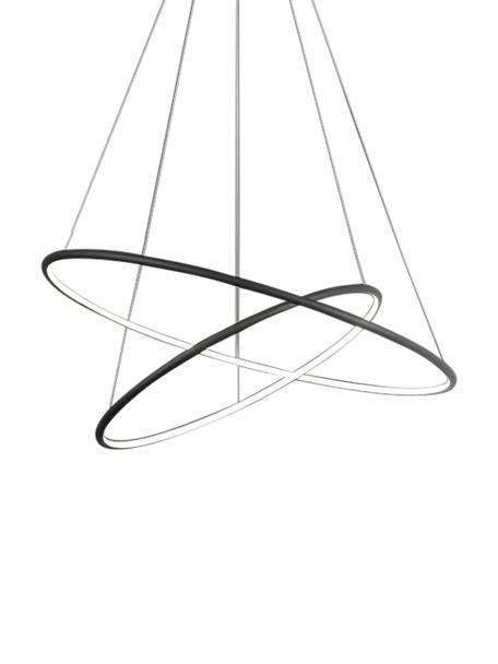 Moderne LED-Pendelleuchte Orion, Lampenschirm: Metall, beschichtet, Baldachin: Metall, beschichtet, Schwarz, Ø 60 cm
